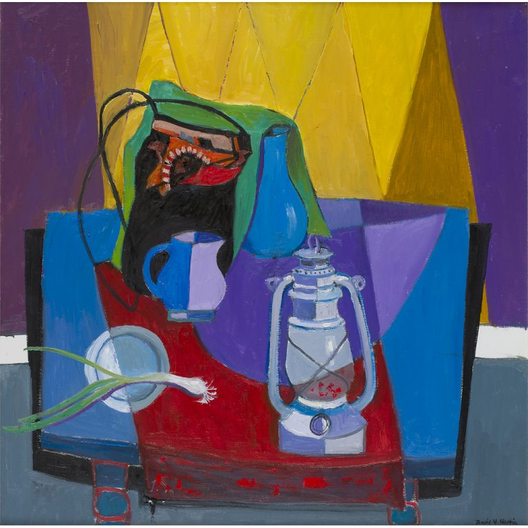 David McLeod Martin RSW, RGI, SSA, 'The Oil Lamp', oil on canvas