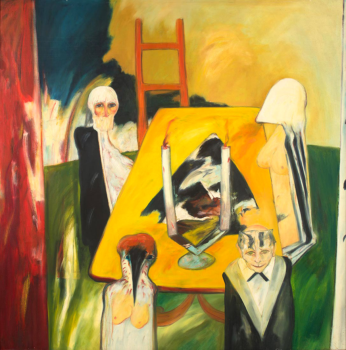 John Bellany - Celtic Supper, oil on canvas