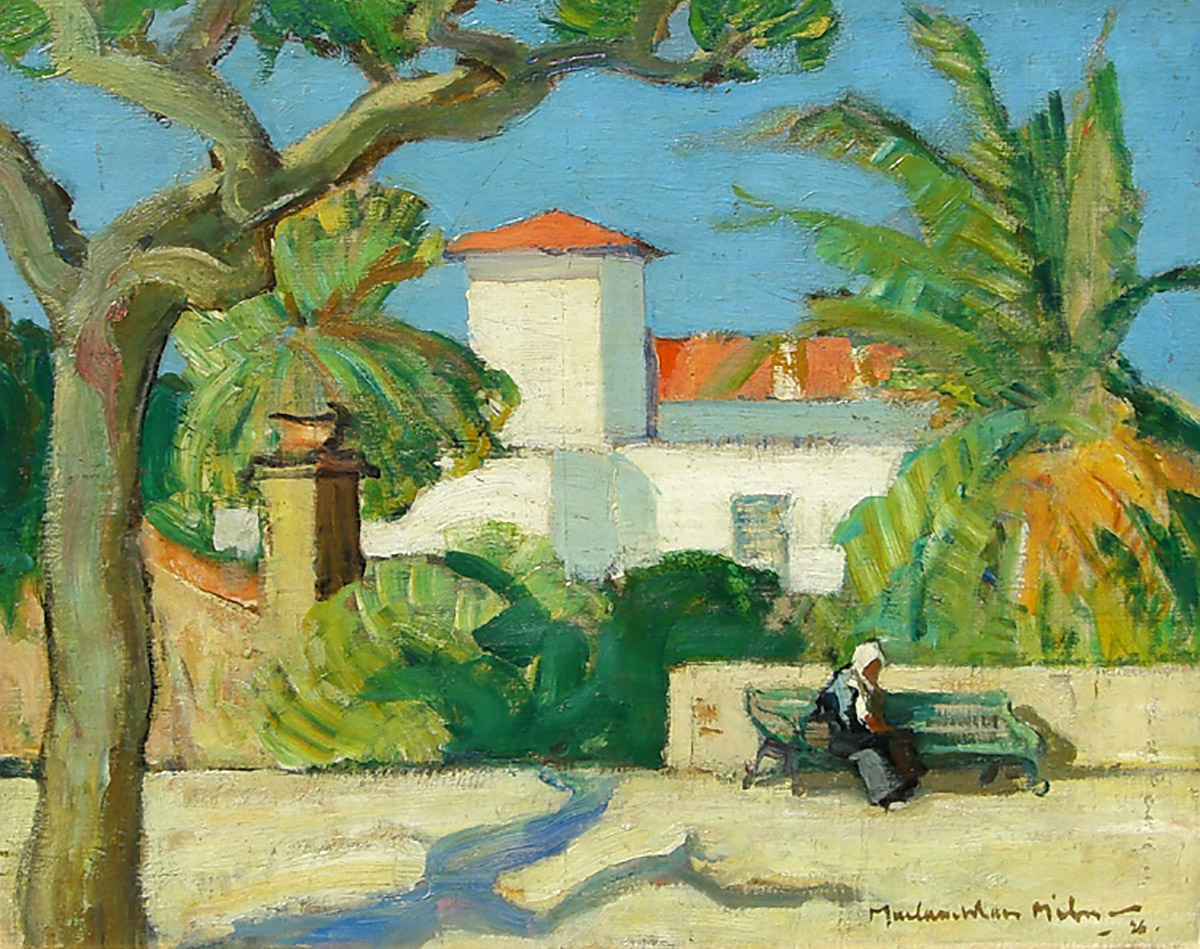 John McLauchlan Milne - St Tropez, 1926, oil on board