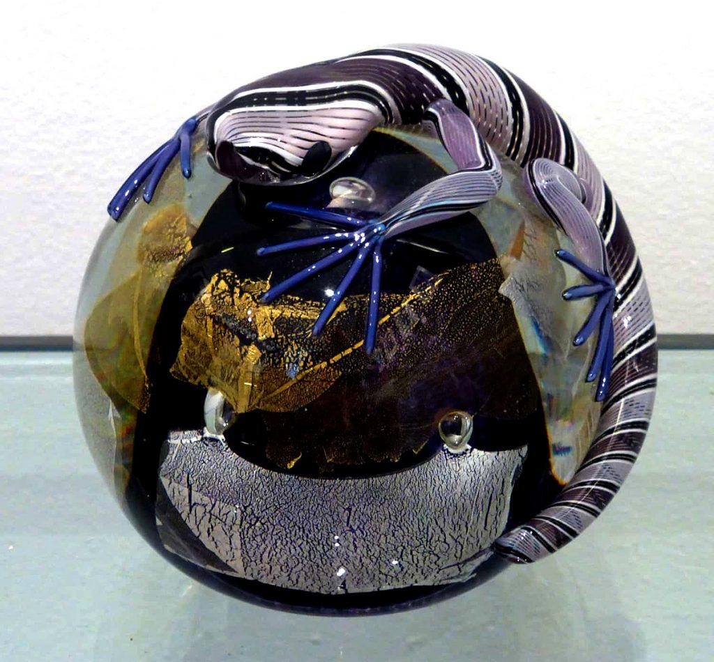 Michael Hunter - Twists, Glass Purple Lizard