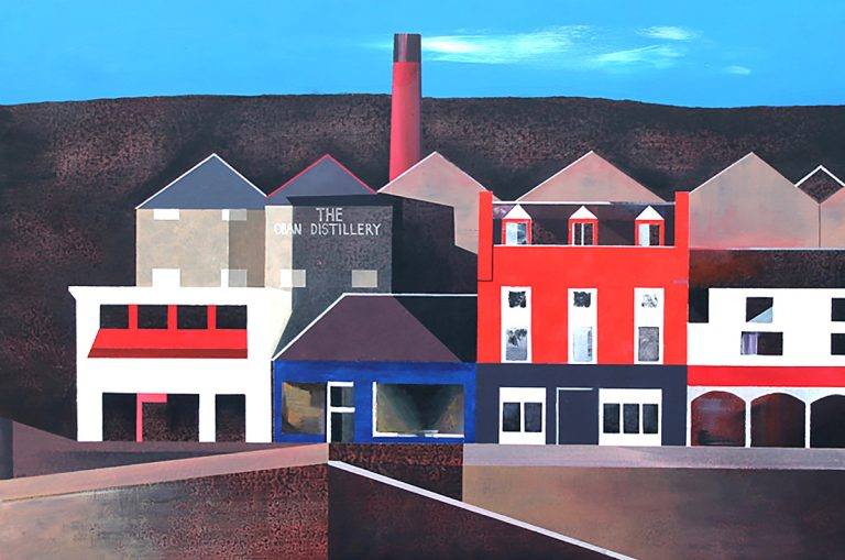Euan McGregor - Oban Distillery, acrylic on board