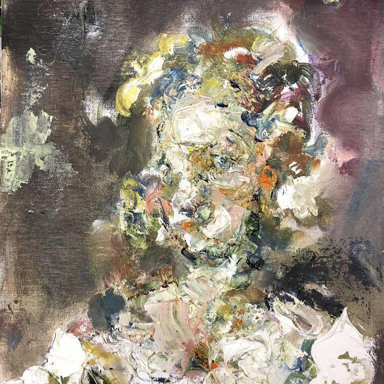 Adam de Ville - The Very Curious Case of Verity Smart, oil on canvas board
