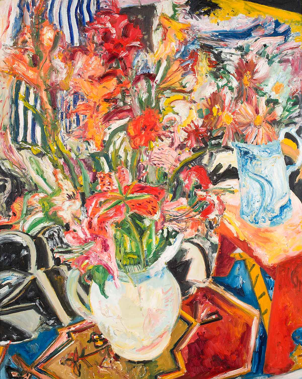 John Bellany - Flowers, oil on canvas
