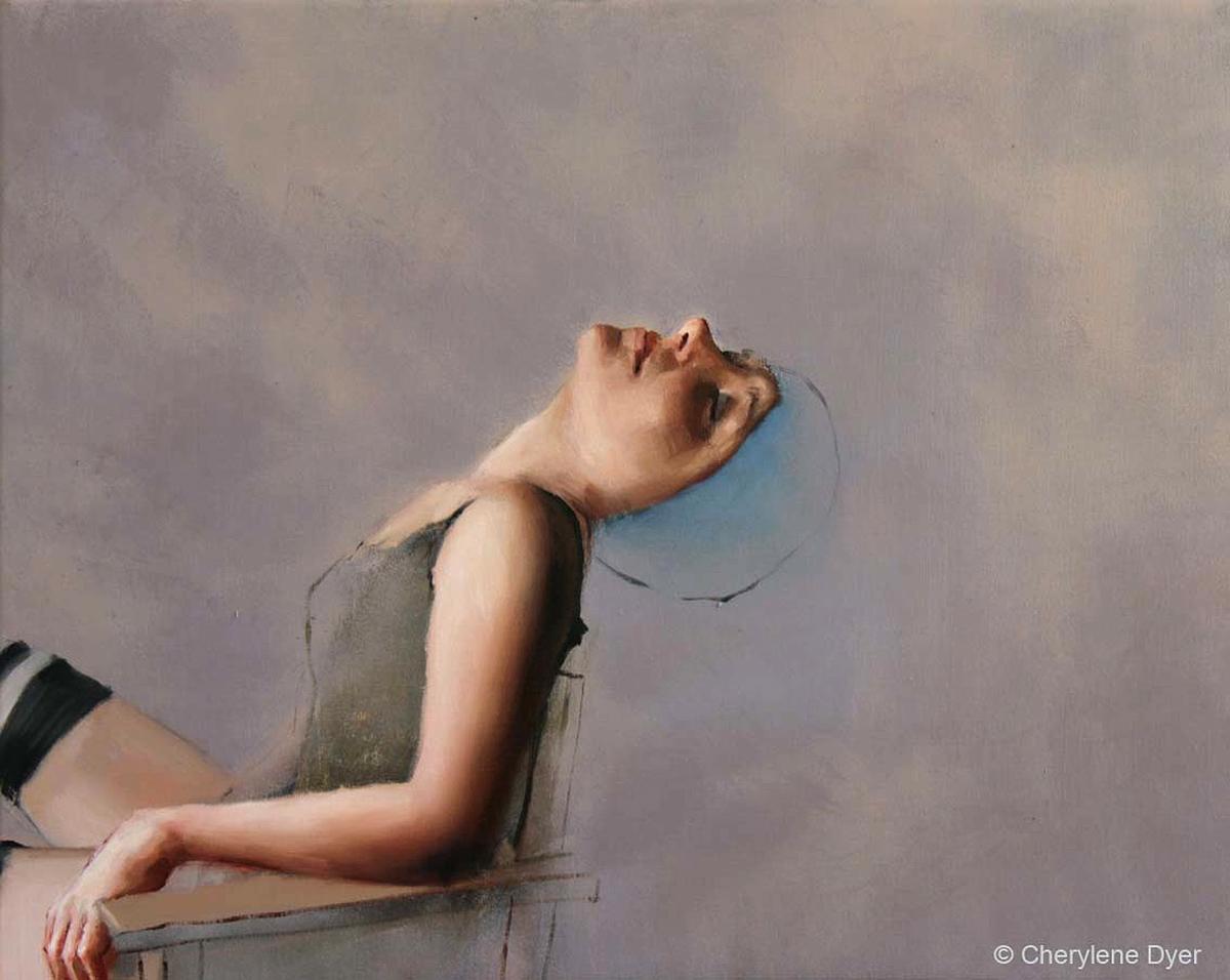 Cherylene Dyer - New Moon, oils