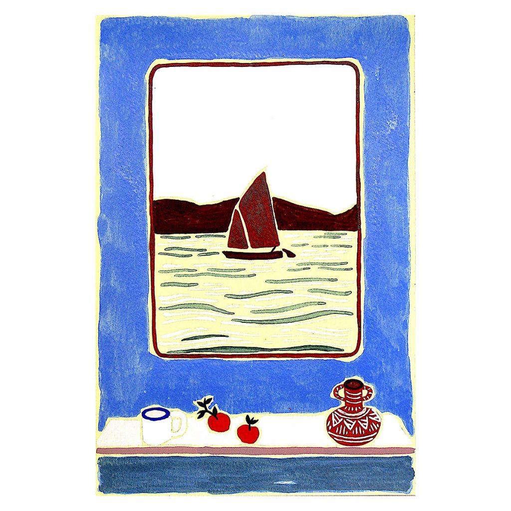 Freya Douglas-Morris - Exercise Three (The Fisherman's Cottage), watercolour and gouache on thick watercolour paper