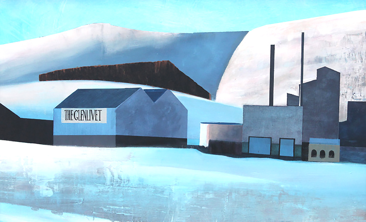 Euan McGregor - Glenlivet, acrylic on board