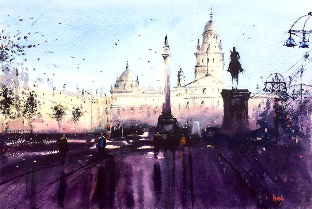 Graham Wands - George Square, Glasgow, watercolour