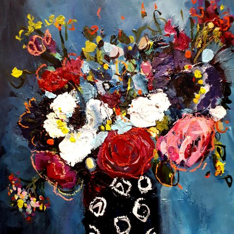 Jenny Handley - Blues, acrylic and pastel Square