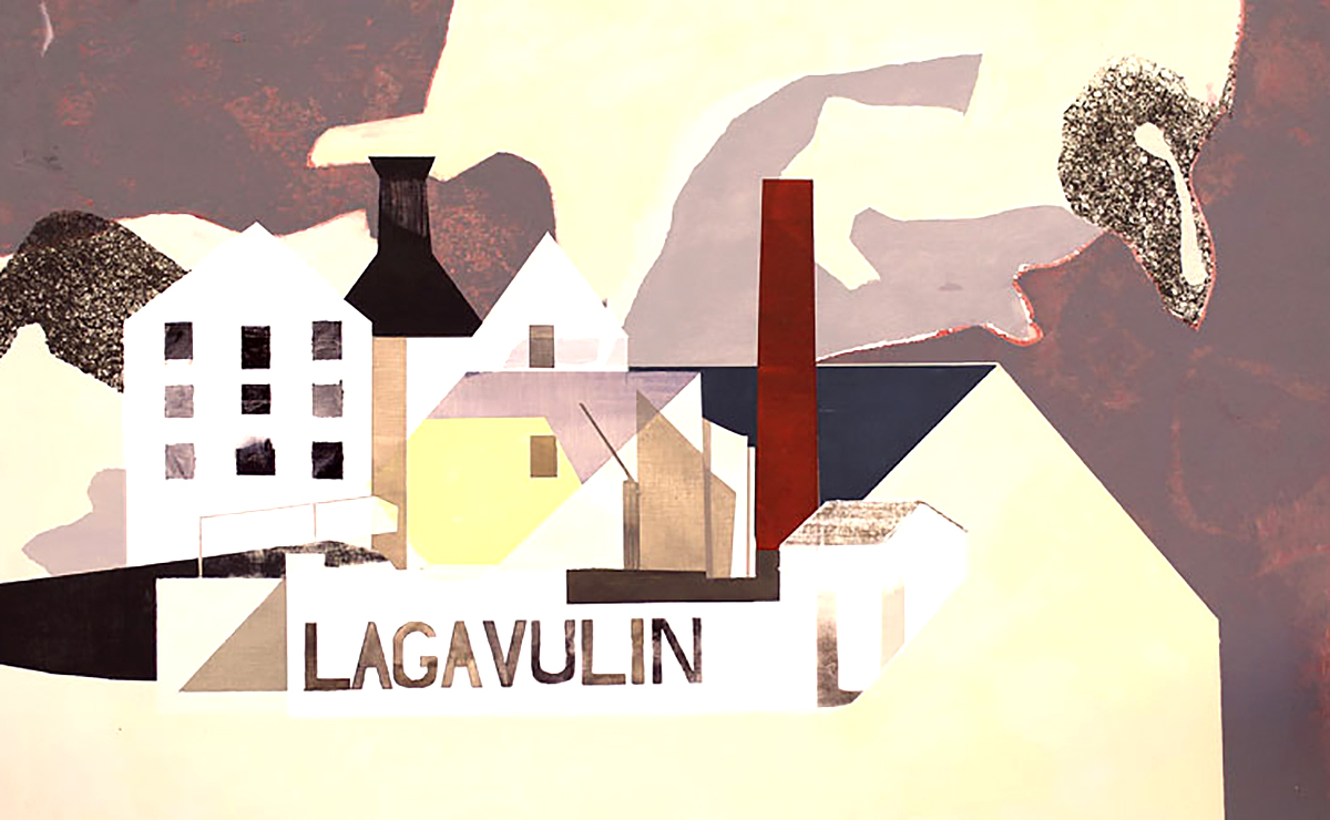 Euan McGregor - Lagavulin detached, acrylic on board