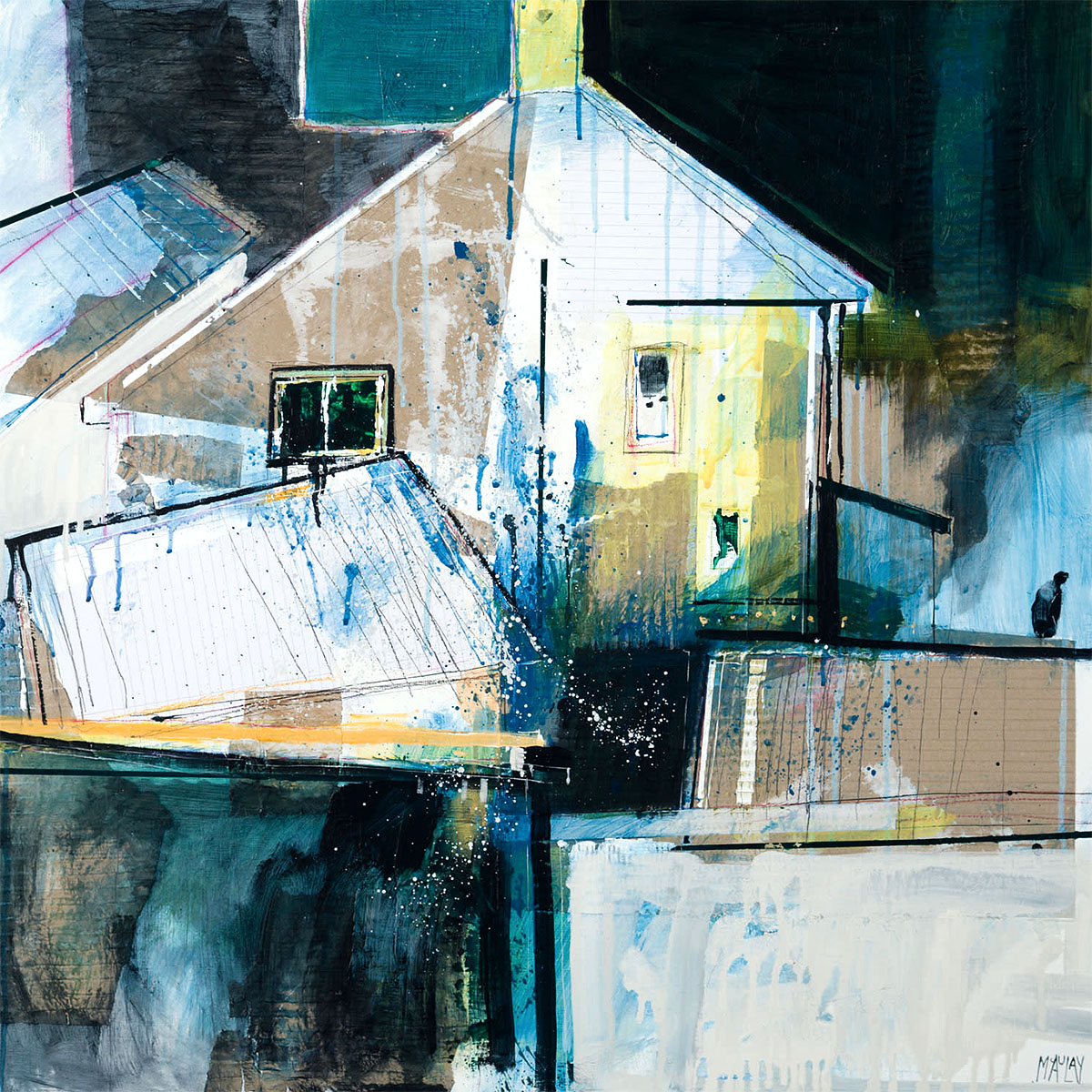 Robert MacAulay - Neighour's House, mixed media