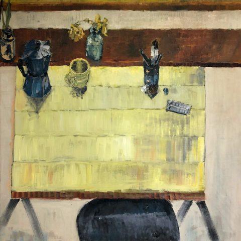 Andrew Churchill - The Drawing Desk, oil on linen