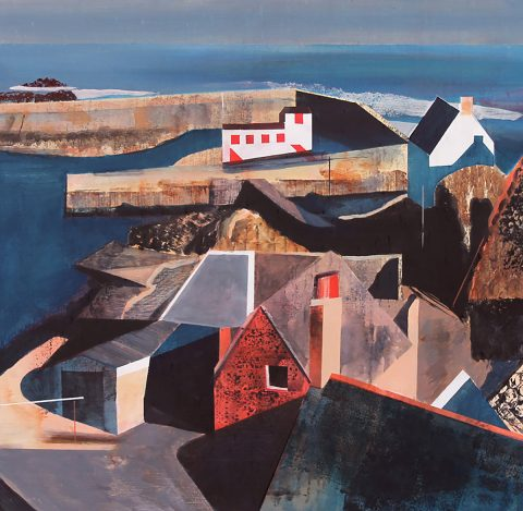 Euan McGregor - St. Abbs, acrylic on board
