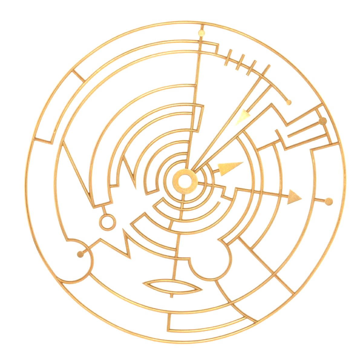 Wendy Ramshaw - Plan in a Gold Circle, 18ct yellow gold