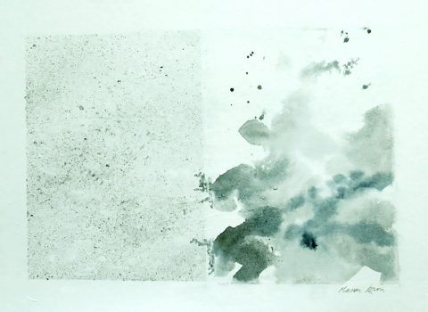 Marian Leven - Sea Cloud, watercolour on canvas
