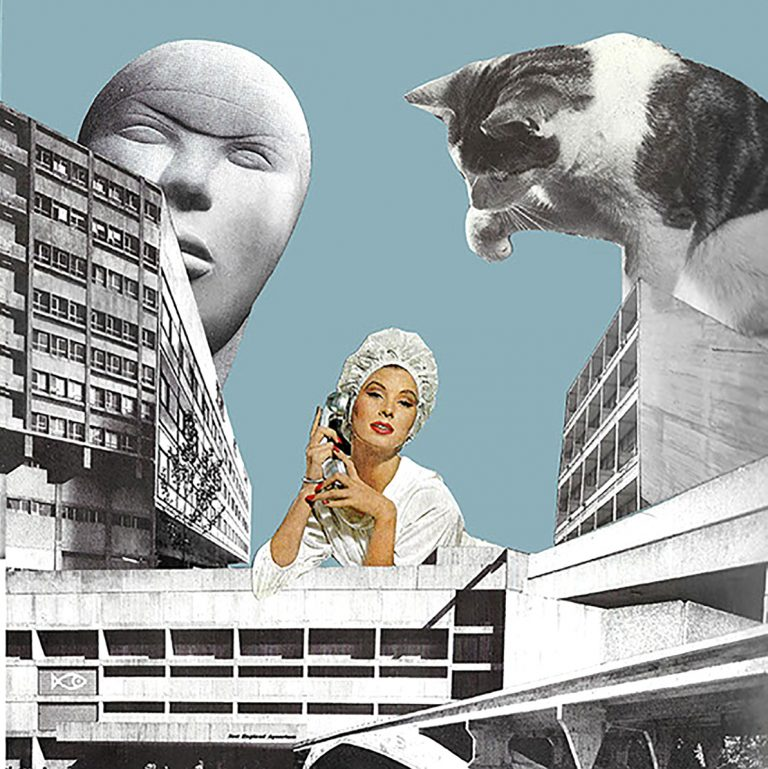 Alan Lennon - City Kitty, photomontage