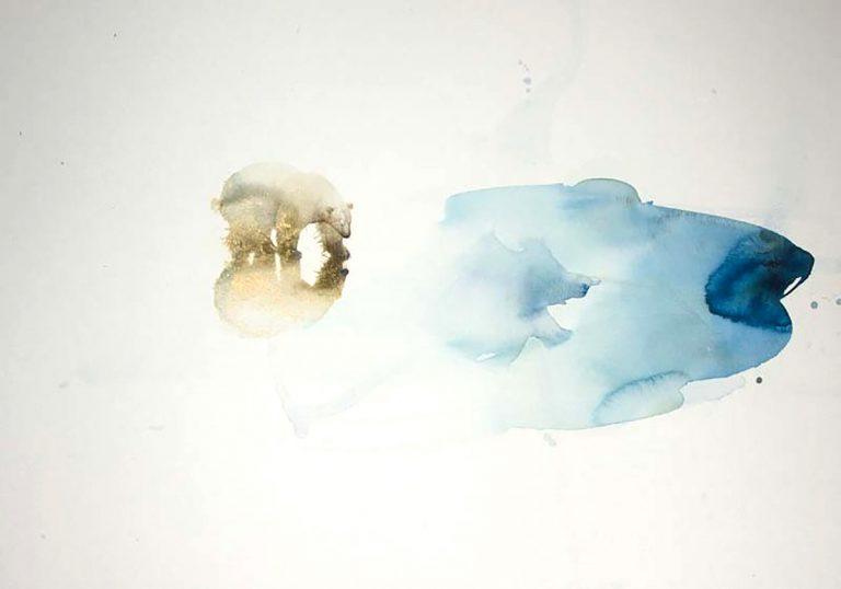 Claire Harkess - Ice Pool, watercolour