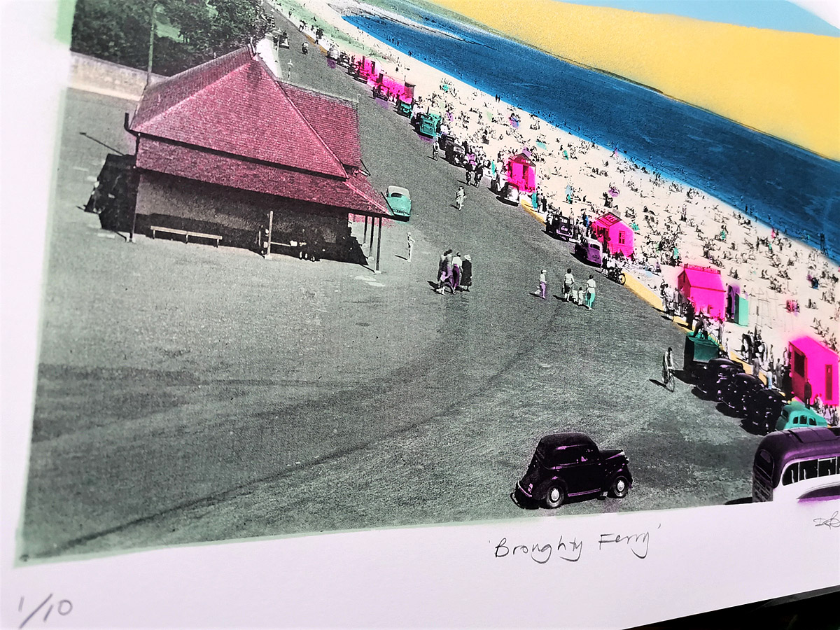 Dylan Bell - Broughty Ferry Esplanade, Spray-paint and screenprint