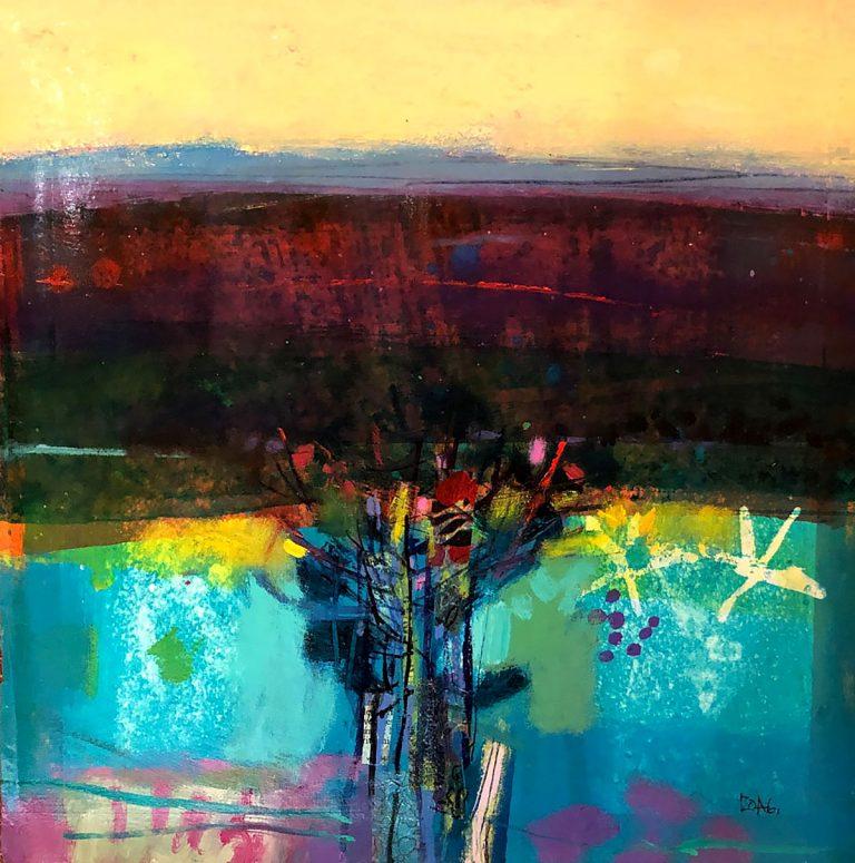Francis Boag - Hedgerow, acrylic on board