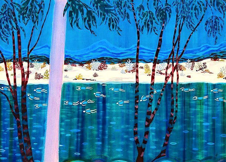 Freya Douglas-Morris - Travelling Tide, oil on canvas