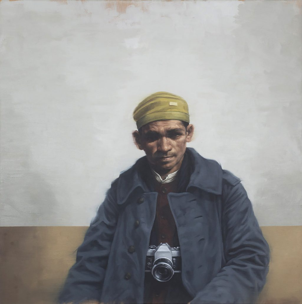 Graeme Wilcox - Tourist, oil on canvas