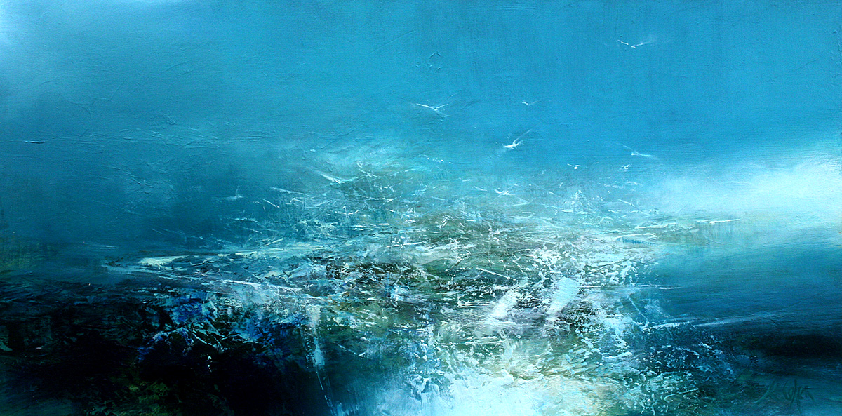 Kirsty Cohen - Sea Spray, oil on board
