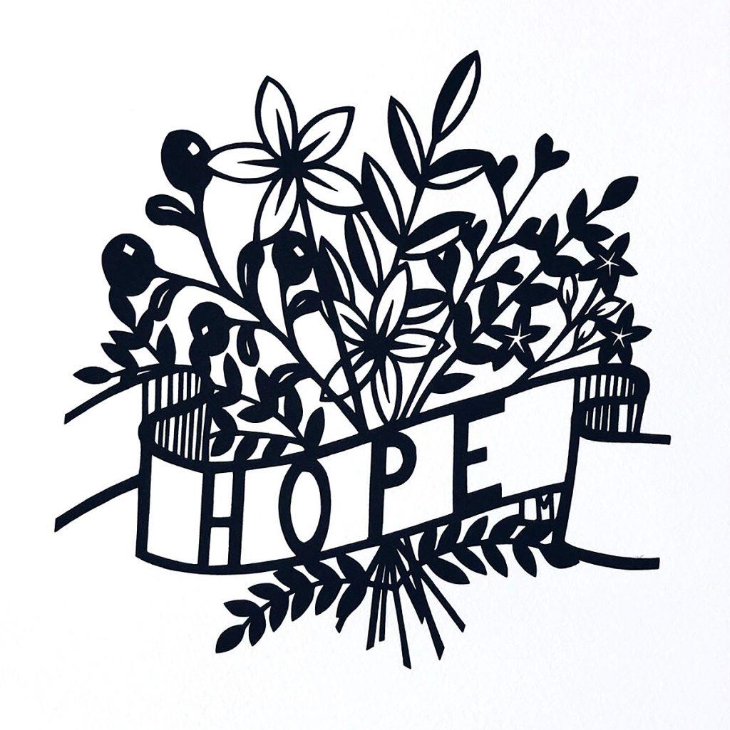 Louise McLaren - Hope, mono print on 190gsm archival paper