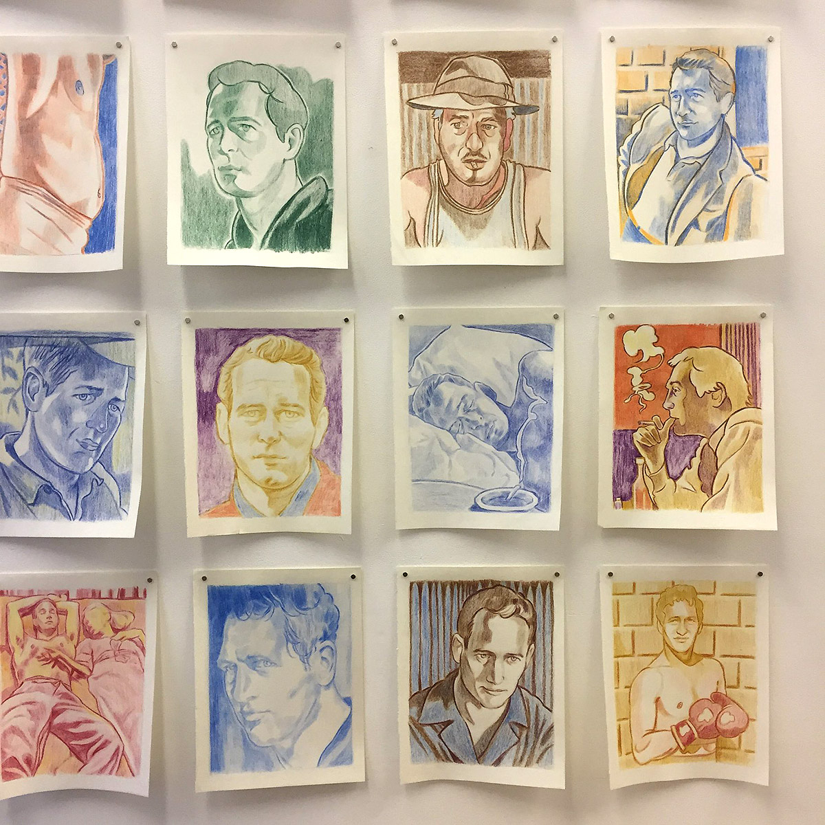 Matt Farr - Wall of Paul, Colour Pencil
