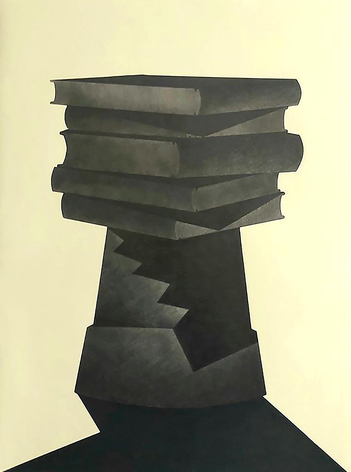 Sean Ellcombe - Hardback Trap, graphite and soft pastel on paper