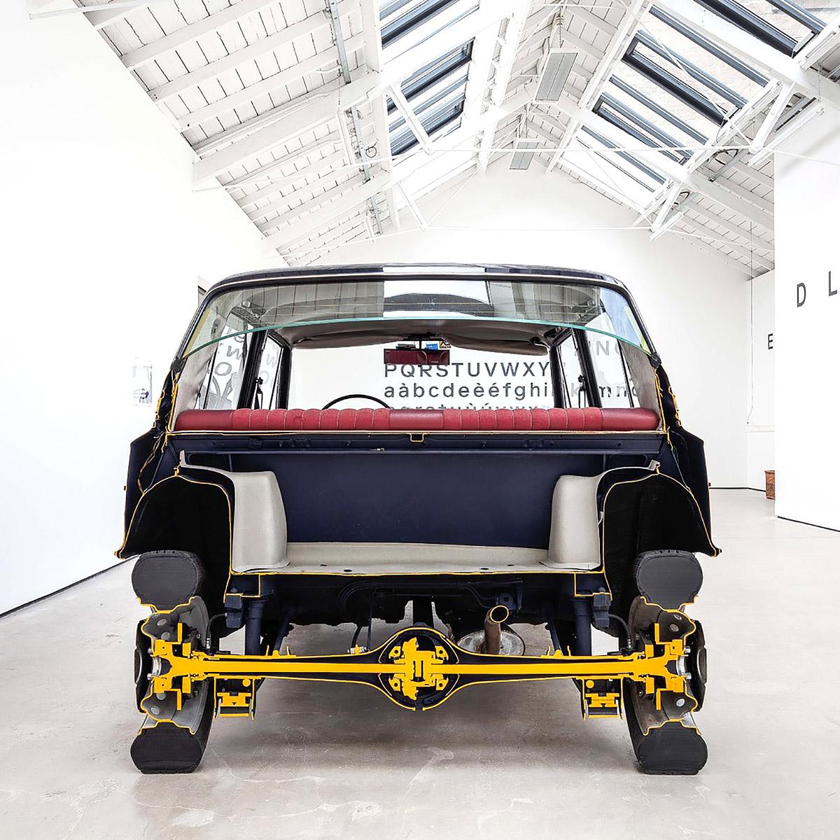 Simon Starling - A-A', B-B', Fiat 125 Special, 1968, Cutaway View, detail