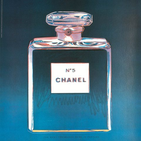 Andy Warhol, 'Chanel No.5', from set of four offset lithographs on linen backs
