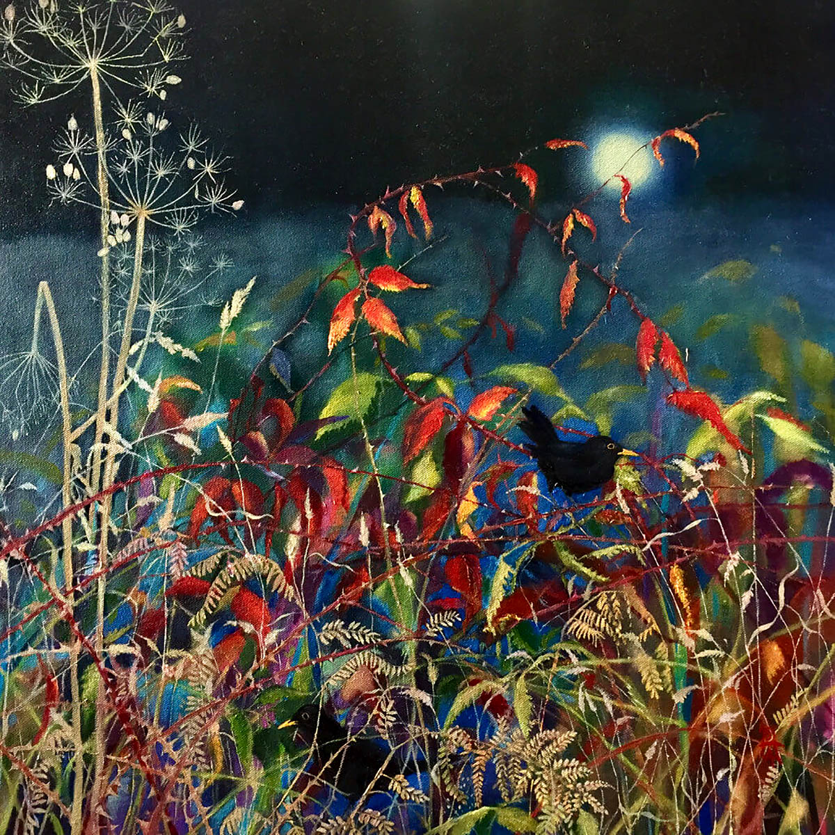 Sheila Anderson-Hardy - Early Birds, oil on canvas