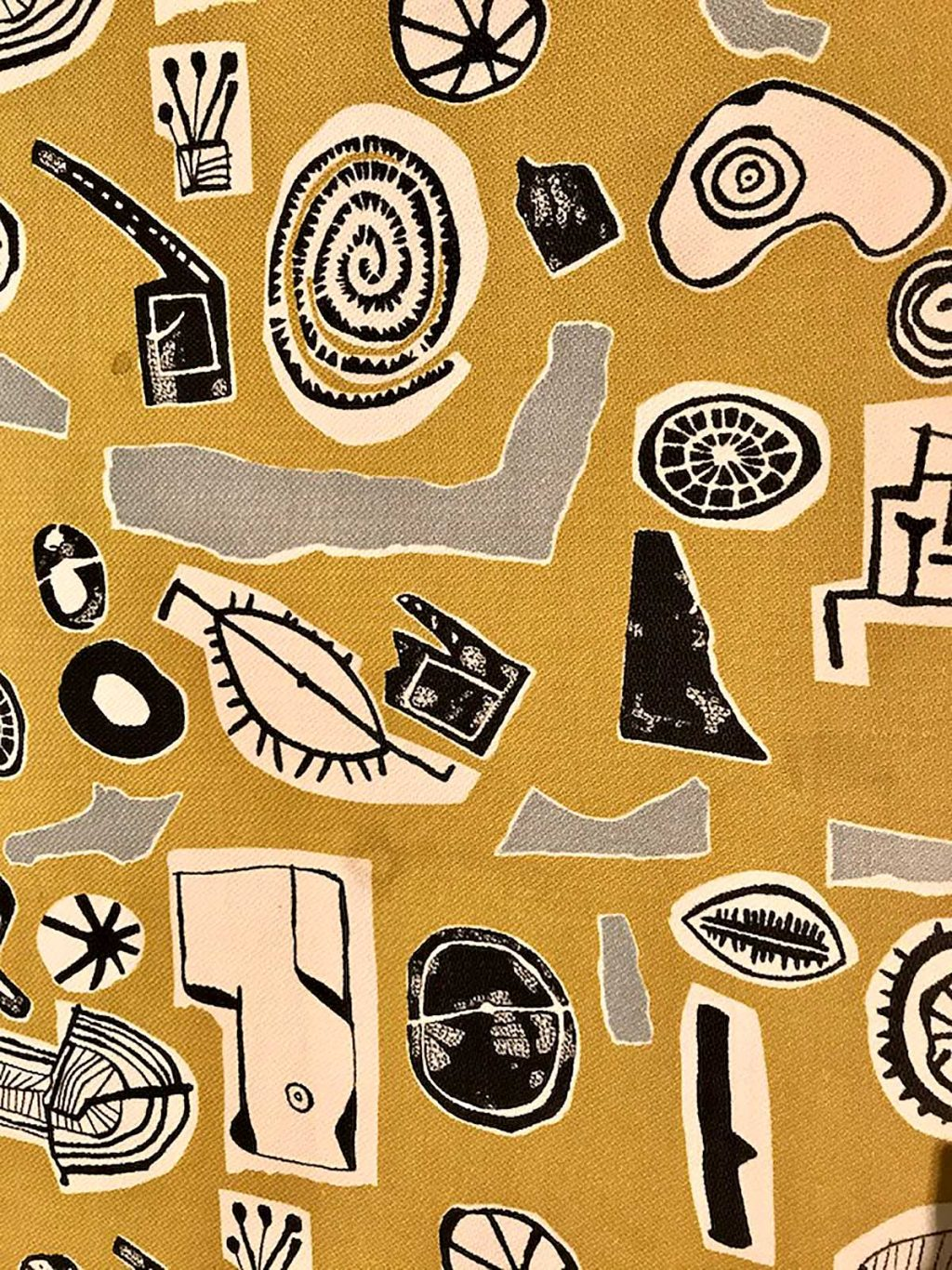 Eduardo Paolozzi furnishing textile printed rayon