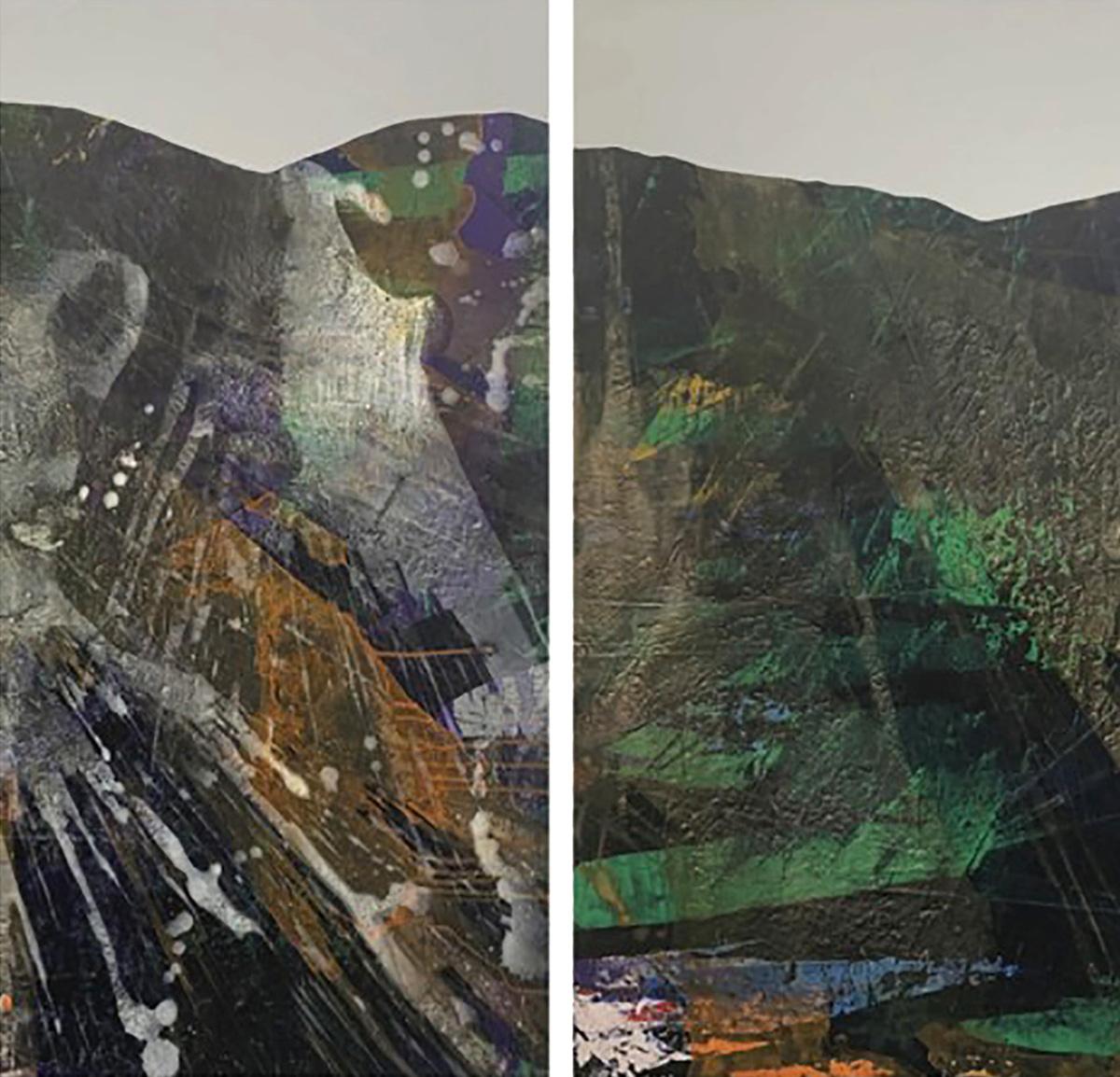 Elfyn Lewis, 'Syrthio Mewn Caariad', acrylic on board