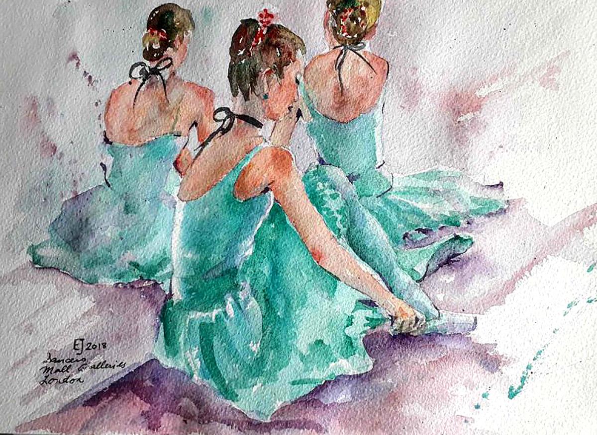 Evie Jamieson, 'Ballet Girls Resting'
