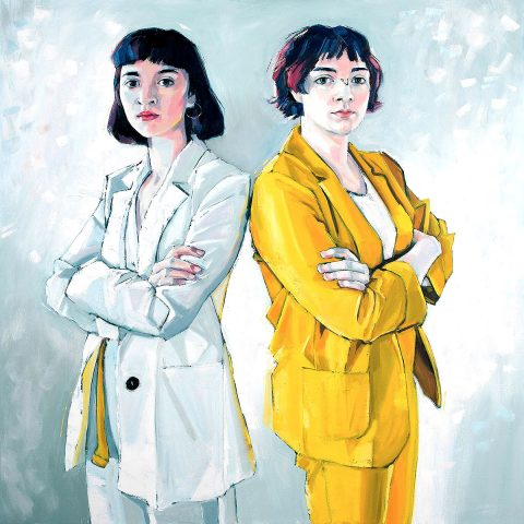 Gwen Adair - Jana and Alix, oil on canvas