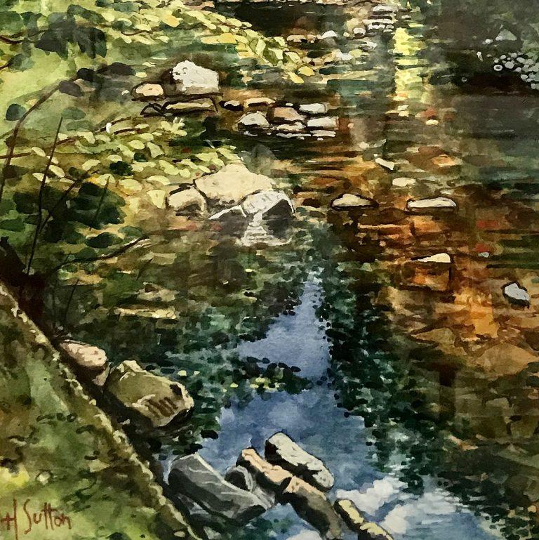 Harry Sutton, watercolour