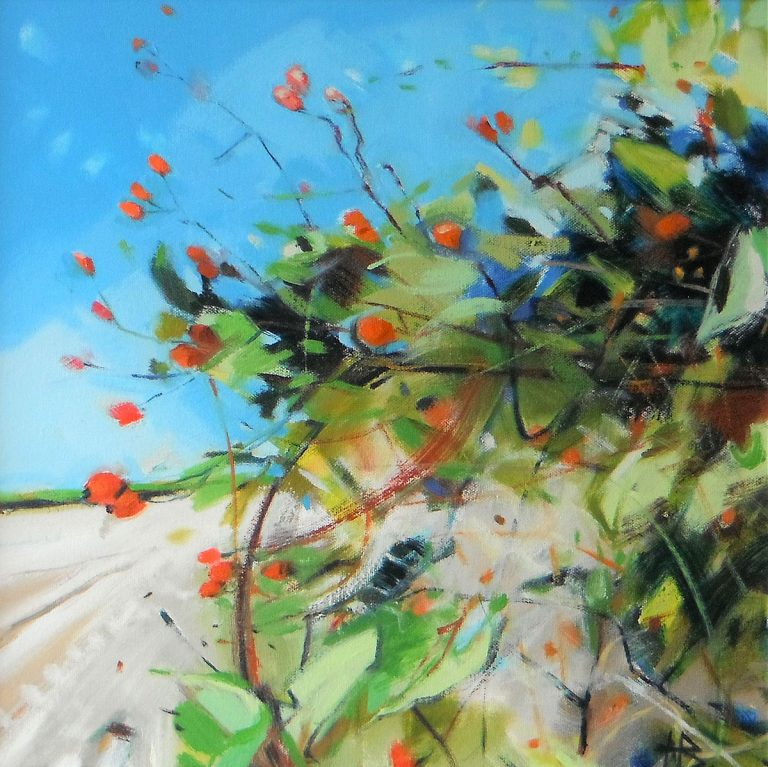 Helen Bruce, 'Crathes Hedgerow', oil