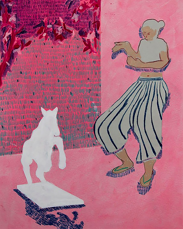 Joseph Buhat - Woman with stuffed Foal