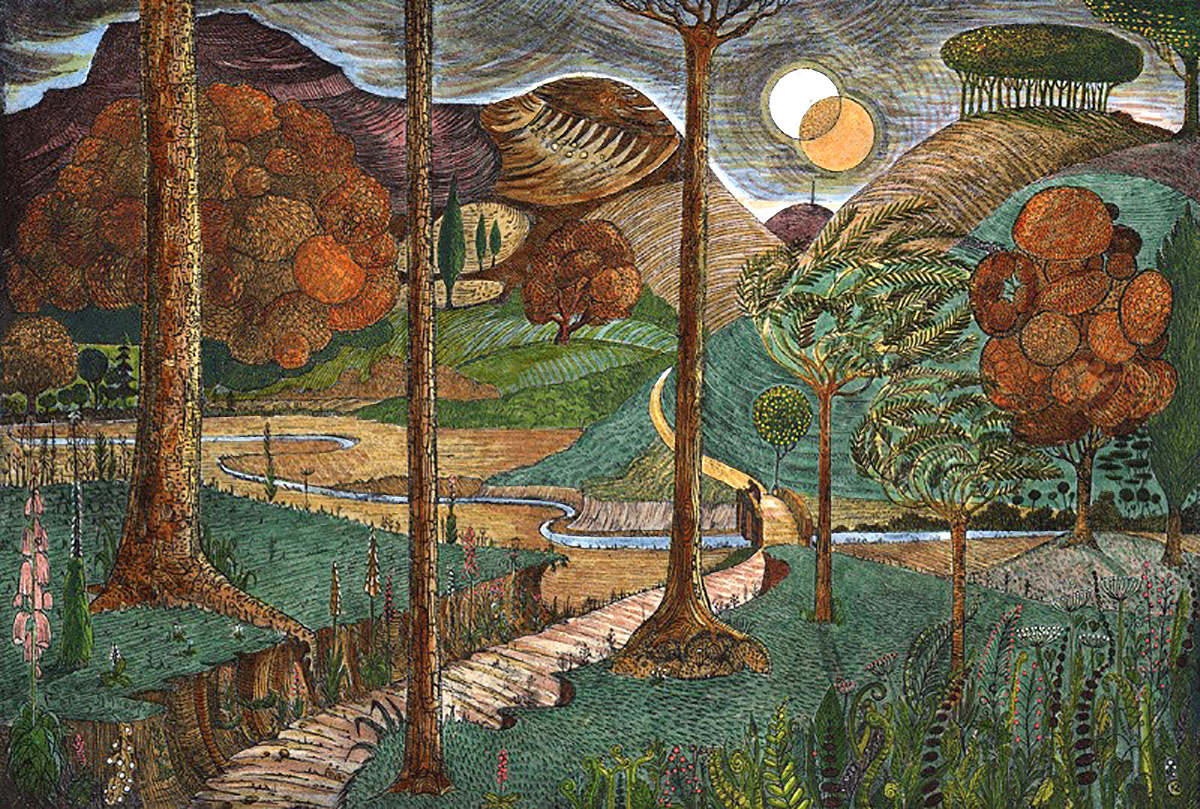 Kit Boyd, 'Another World', hand-coloured etching