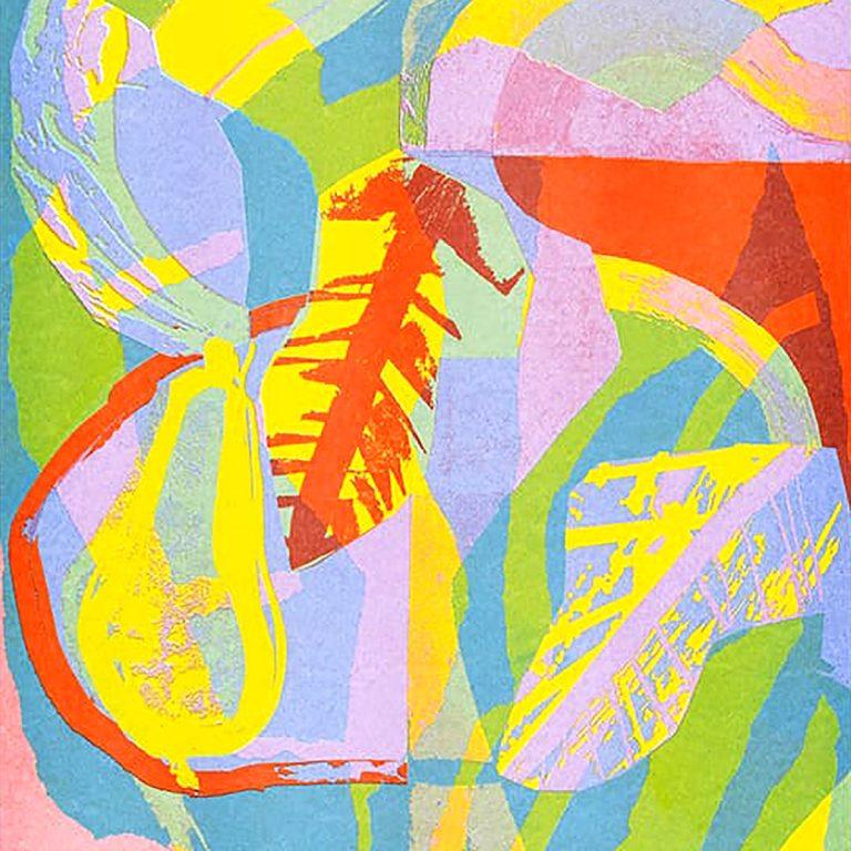 Laura Slater, 'Pear, Bowl, Leaf', Riso print