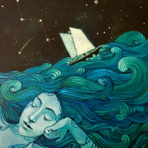 Lucy Campbell, 'my mind is an ocean',acrylic on canvas