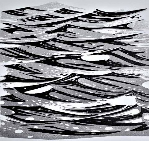 Merlyn Chesterman - Atlantic, wood engraving