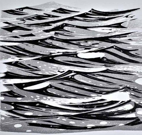 Merlyn Chesterman - Atlantic, wood engraving