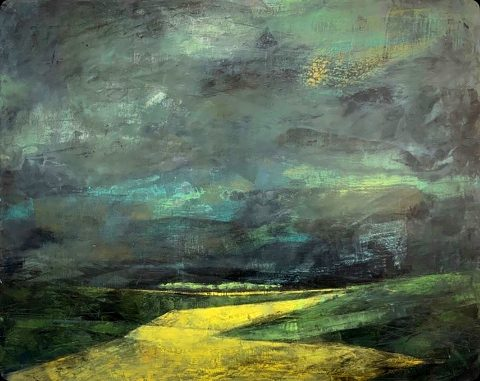 Morag Smith - Keep on Pushing, acrylic