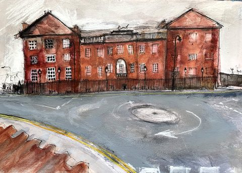 Ann Cowan, 'Lauderdale House' acrylic and mixed media on board