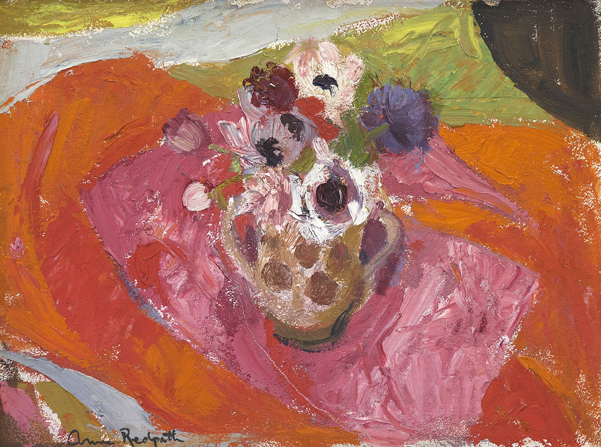 Anne Redpath, 'Anemones', oil on panel