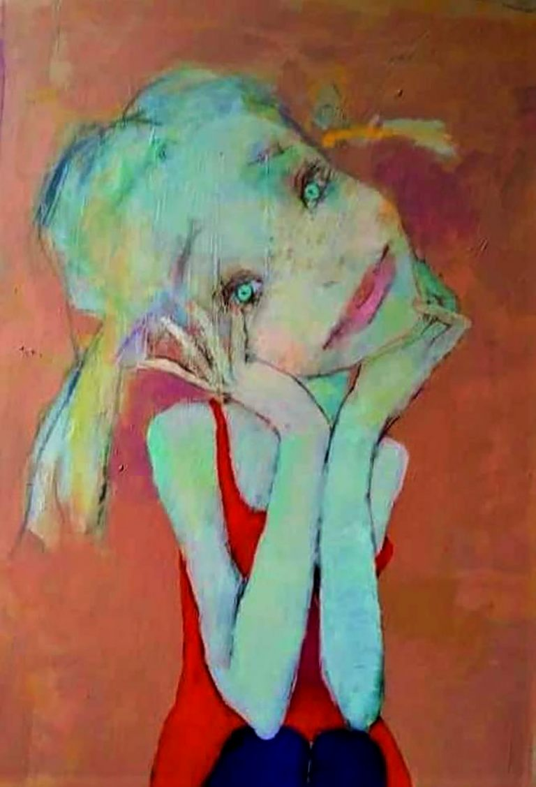 Arturs Akopjans, 'Pixie', acrylic on canvas