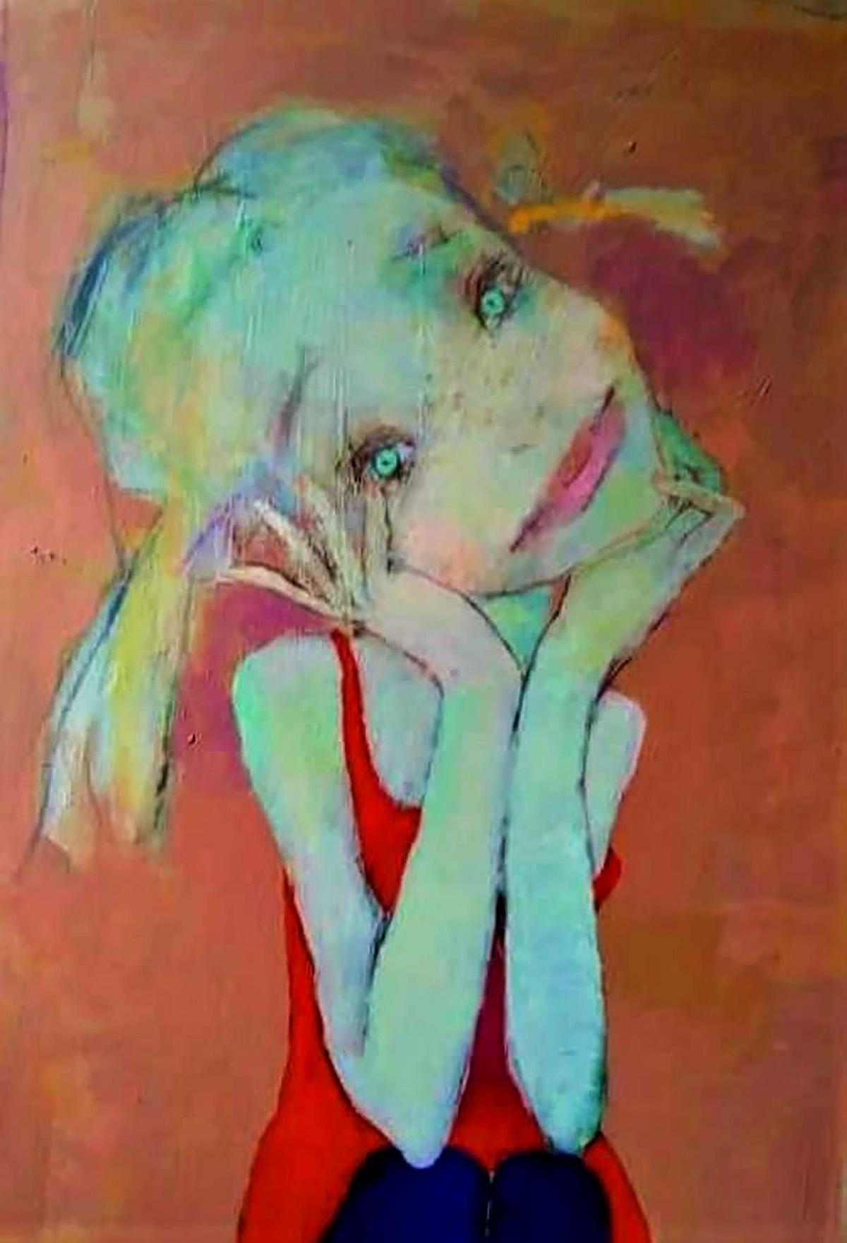 Arturs Akopjans, 'Pixie', acrylic on canvas