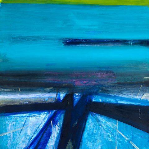 Barbara Rae, 'Sea Shards', mixed media