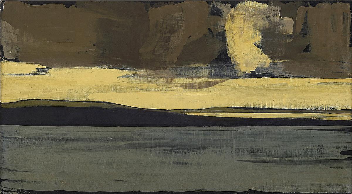 Hannah Mooney, Seascape II, oil on board
